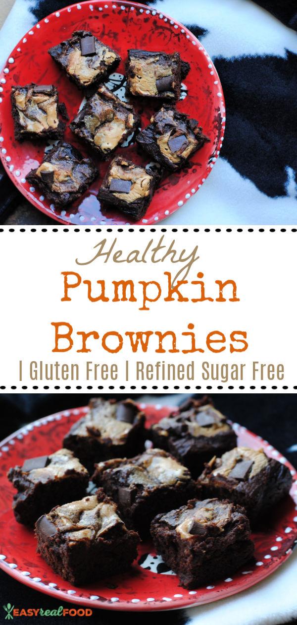 Easy Healthy Pumpkin Brownies (Gluten Free)