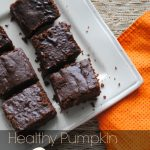 A recipe for healthy pumpkin brownies