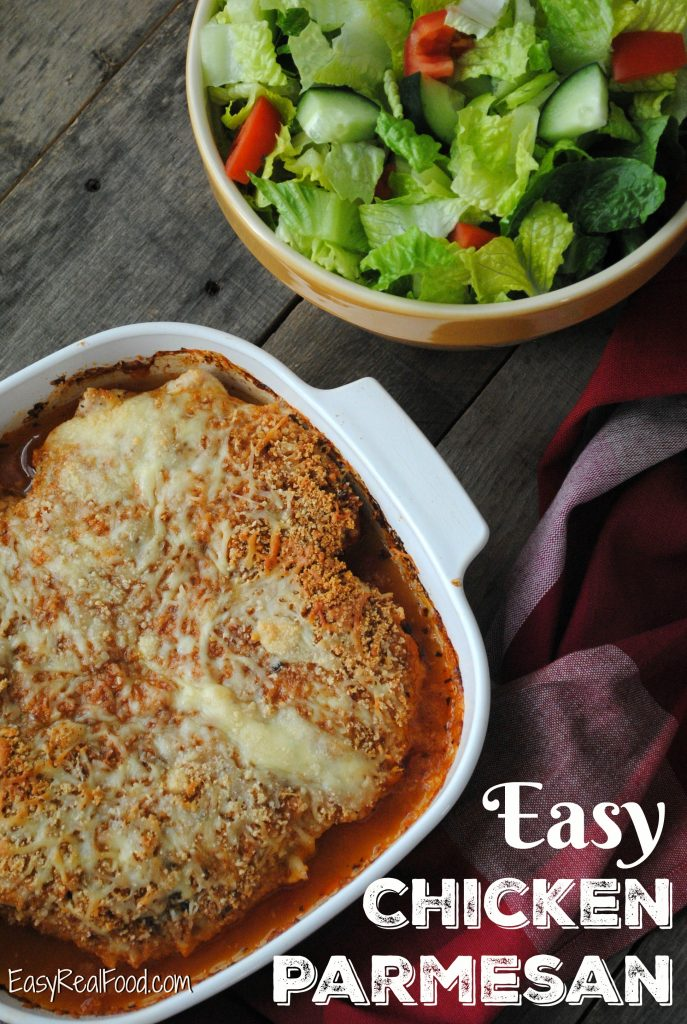 Easy Baked Chicken Parmesan: a healthy baked chicken parmesan recipe that's gluten-free