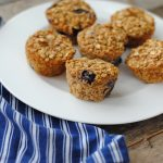 Baked oatmeal cups: a tasty gluten free snack that's portable and nutritious.