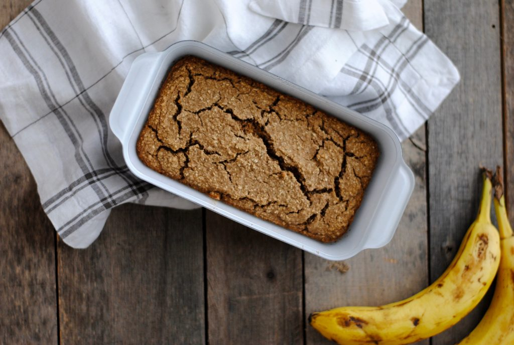 A gluten free banana bread recipe with beans.