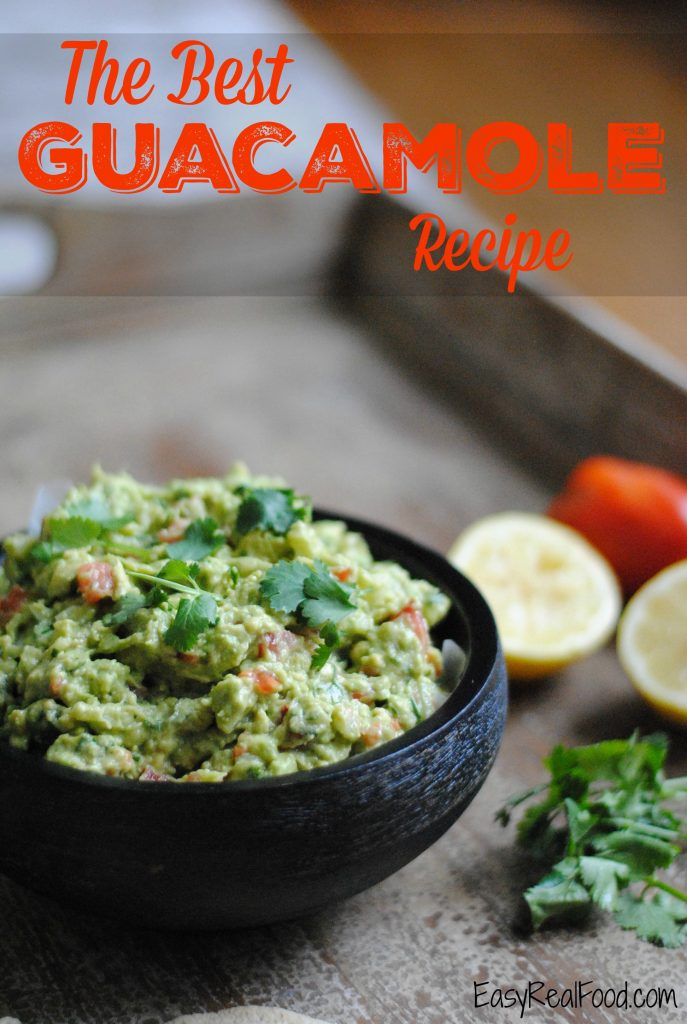 The best guacamole recipe that has chunks of onion, tomato and cilantro folded in