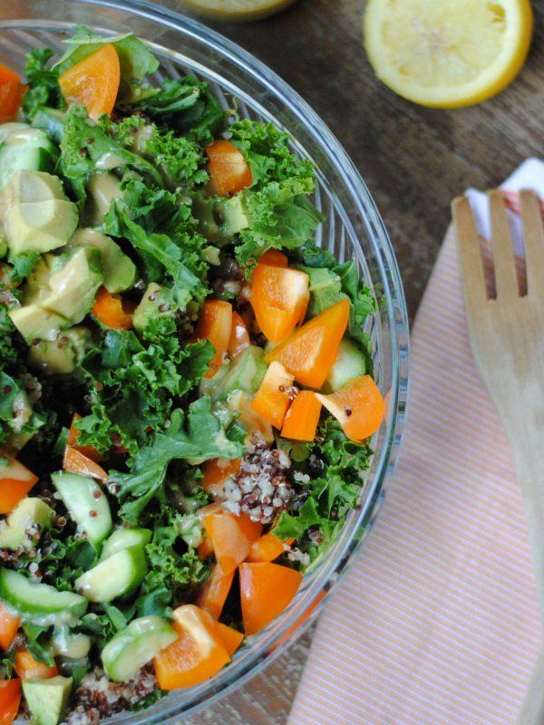 Kale Quinoa Salad (FODMAP friendly!)
