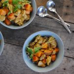 Slow cooker coconut curry chicken - paleo and gluten free. #paleodinner #paleorecipe