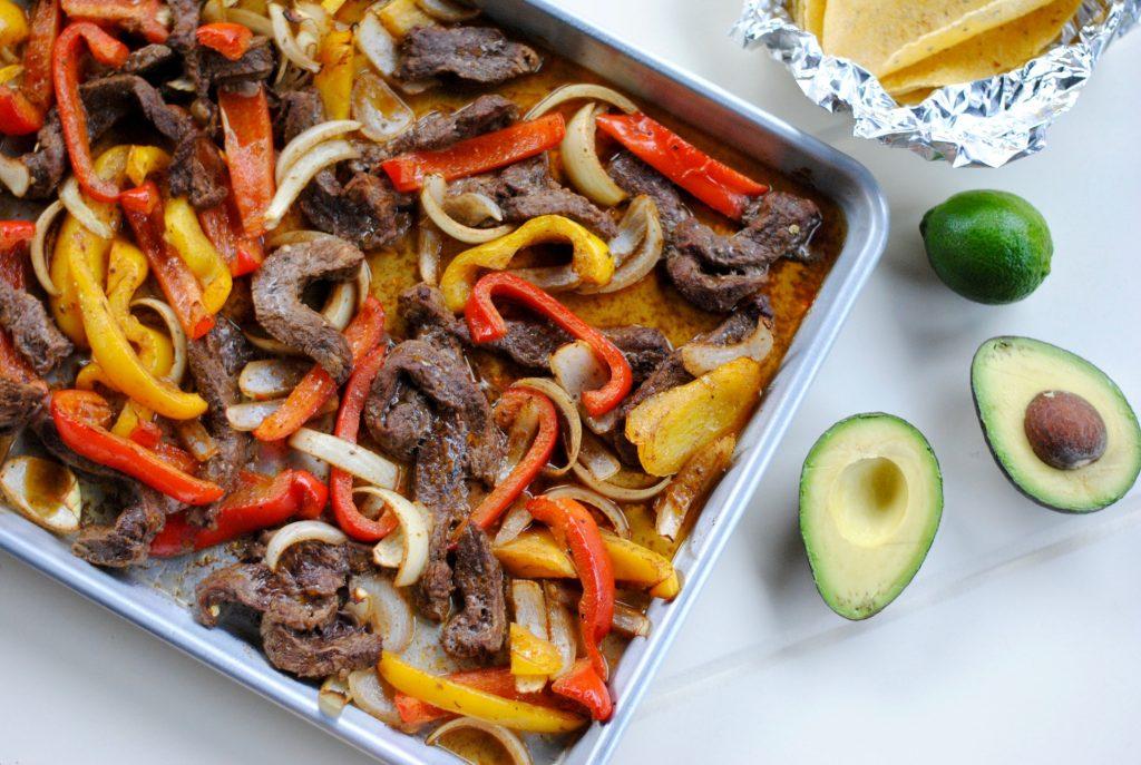 Sheet pan fajitas: an easy sheet pan dinner meal