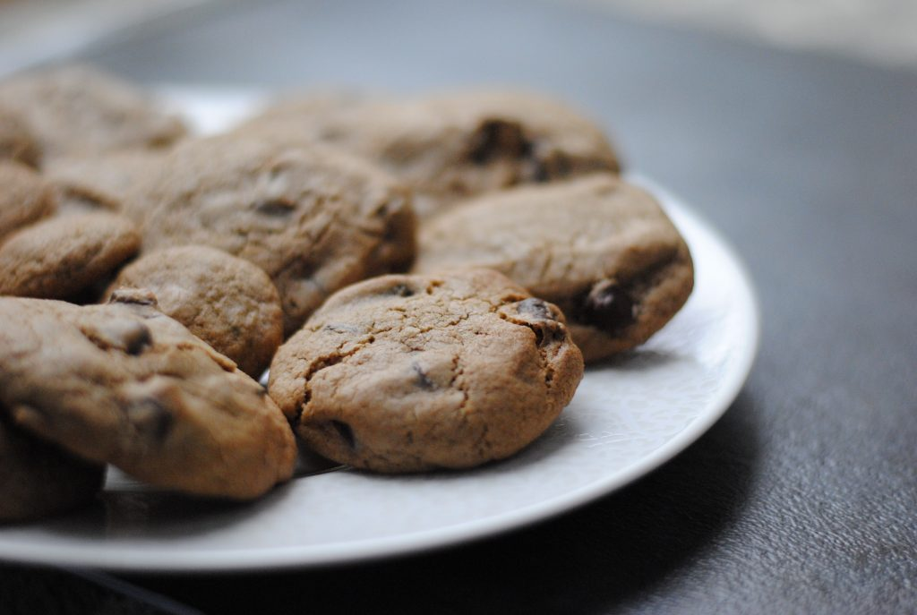 A recipe for low FODMAP chocolate chip cookies