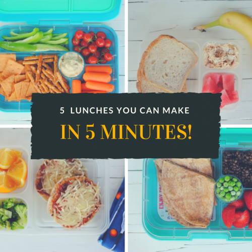 5 healthy lunches you can make in 5 minutes