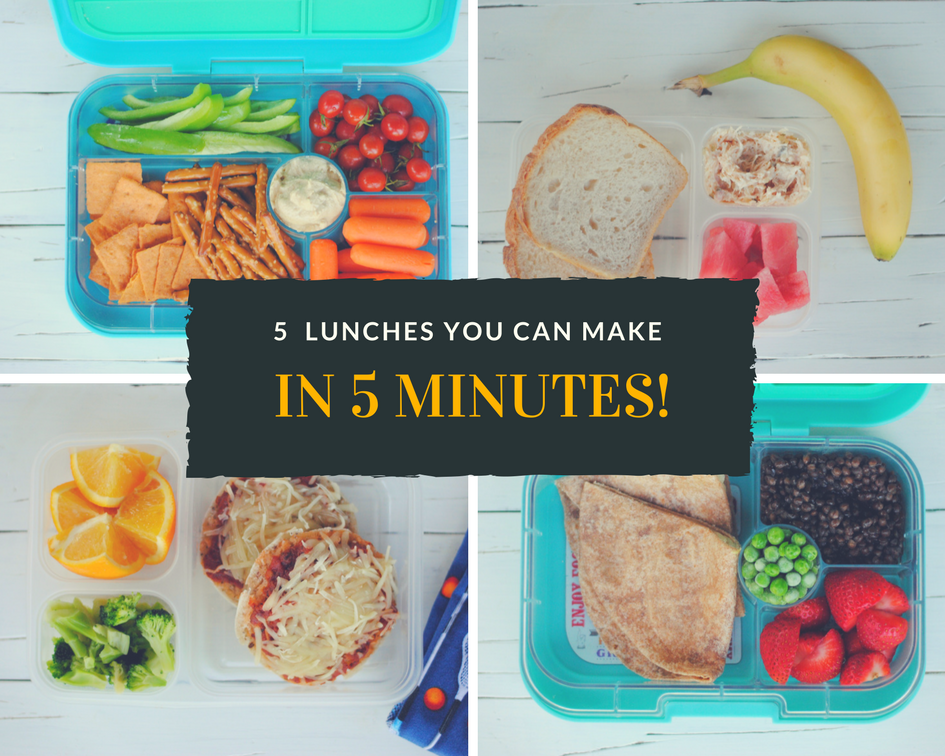 5 lunches you can make in 5 minutes