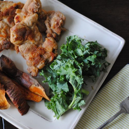 Sheet Pan Oven-Fried Chicken and Sweet Potatoes