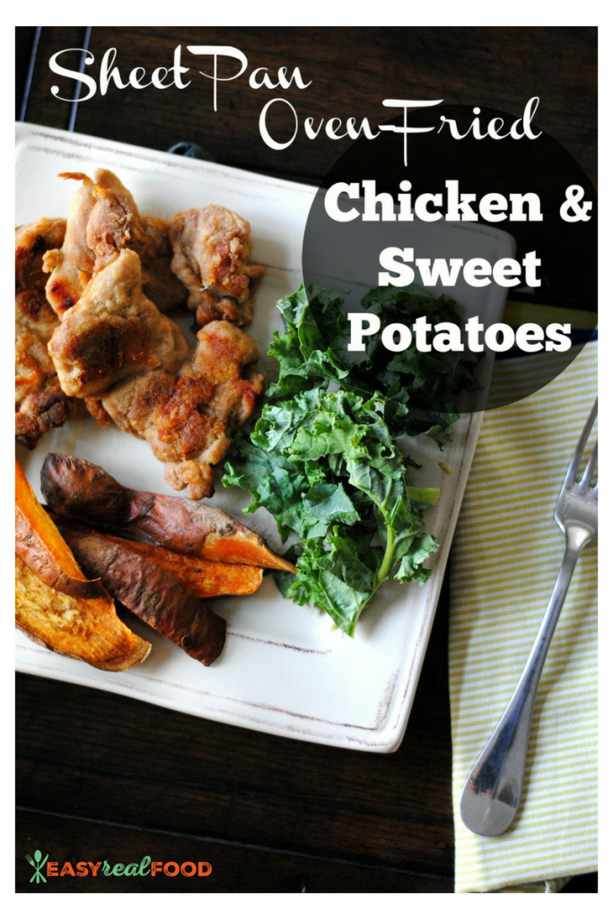sheet pan chicken and sweet potatoes