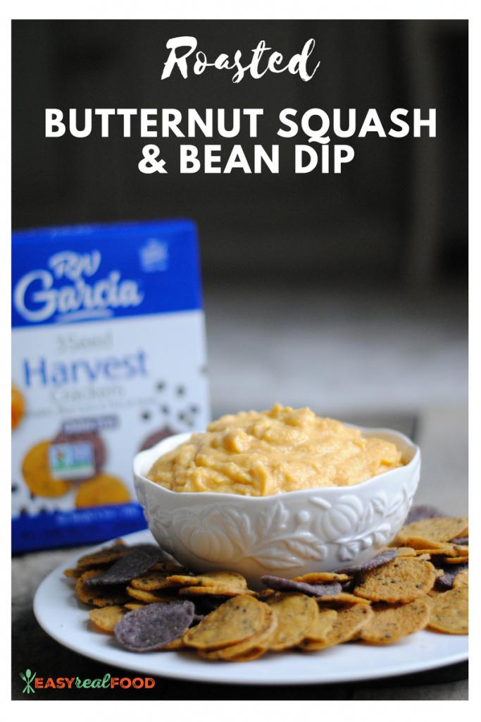 Roasted butternut squash & bean dip