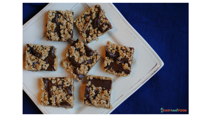 no-bake chocolate granola bars