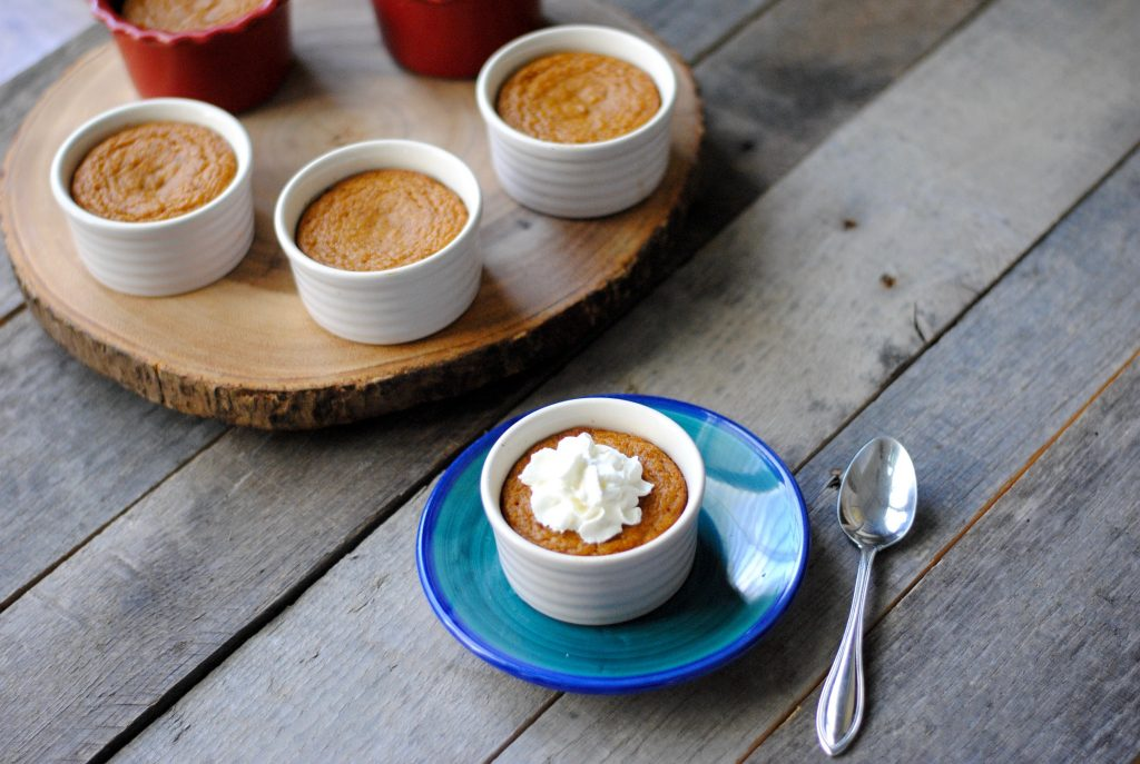 Crustless Mini Pumpkin Pies: delicious and gluten free.