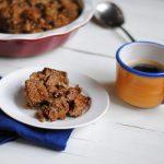 A recipe for simple gluten free bread pudding