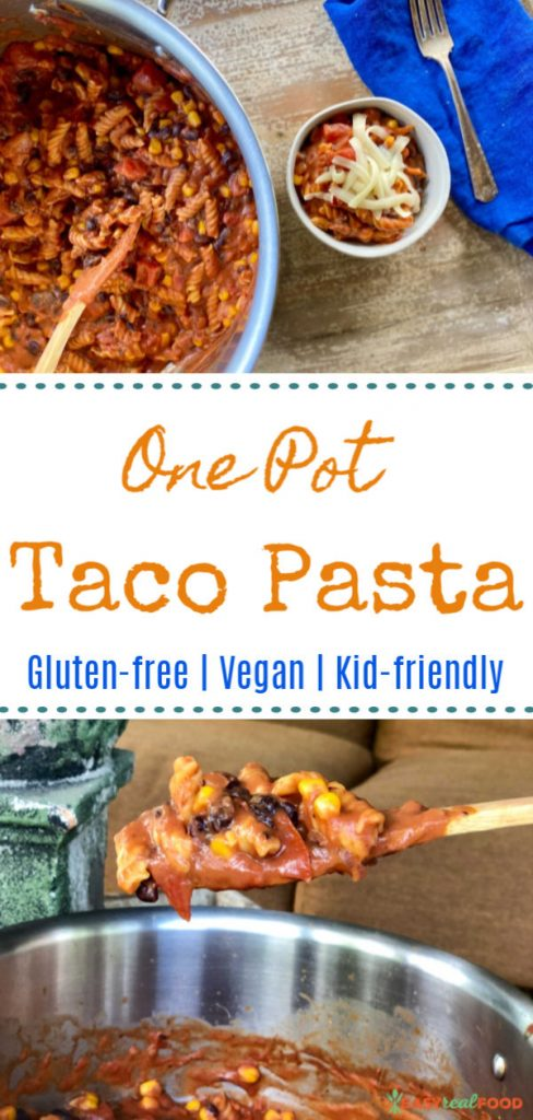 The easiest pasta dish that's gluten-free, vegan and kid-friendly AND has easy cleanup!