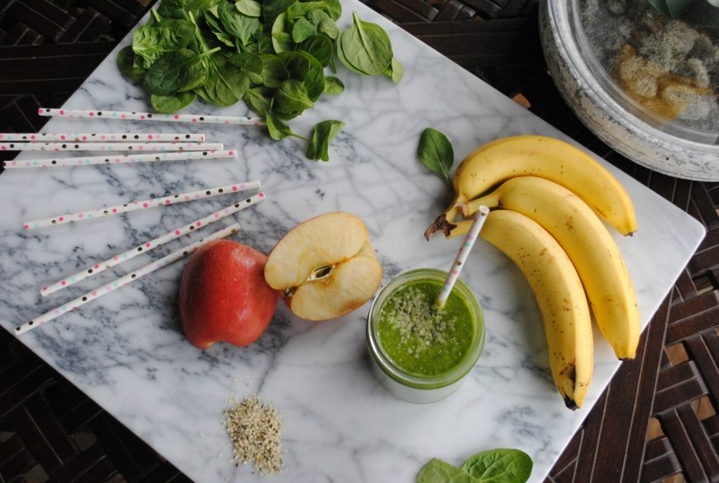 Blend greens into your smoothie to increase your greens intake