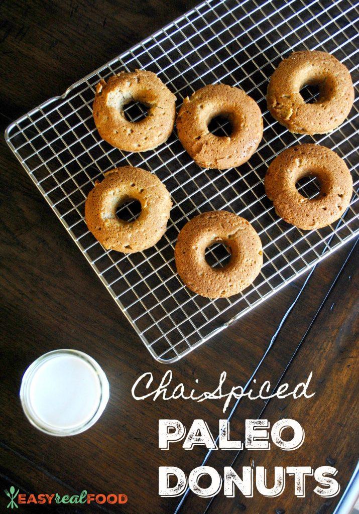 Chai Spiced Paleo Donuts