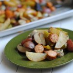 Sheet pan sausage, potatoes and pepper recipe