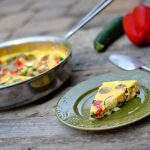 A recipe for a dairy-free frittata