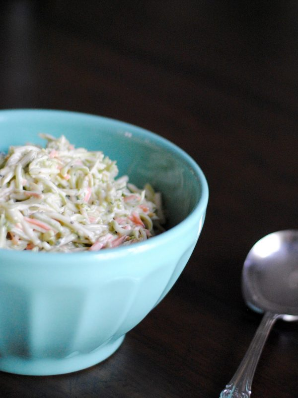 Easy and healthy coleslaw that's refined sugar free