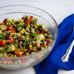 Mexican bean salad: a delicious real food side that's vegetarian and gluten free.