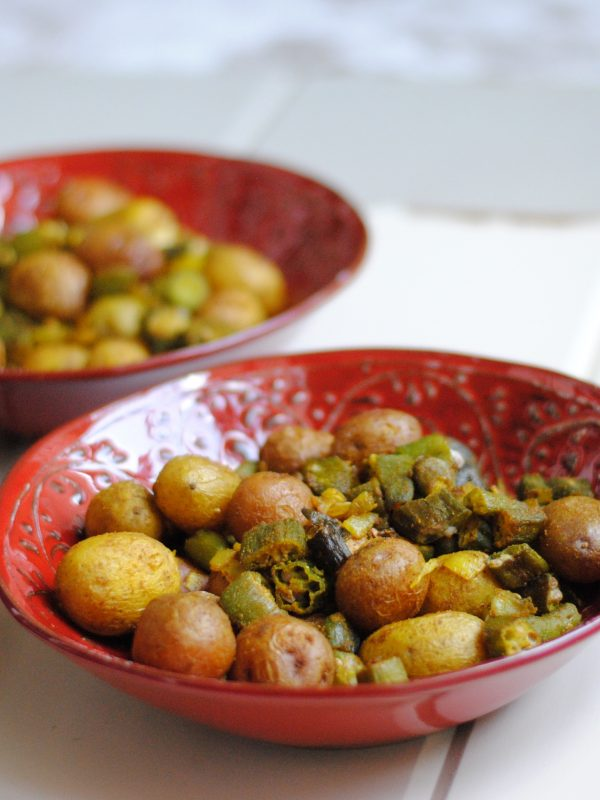 Indian-style okra & potatoes