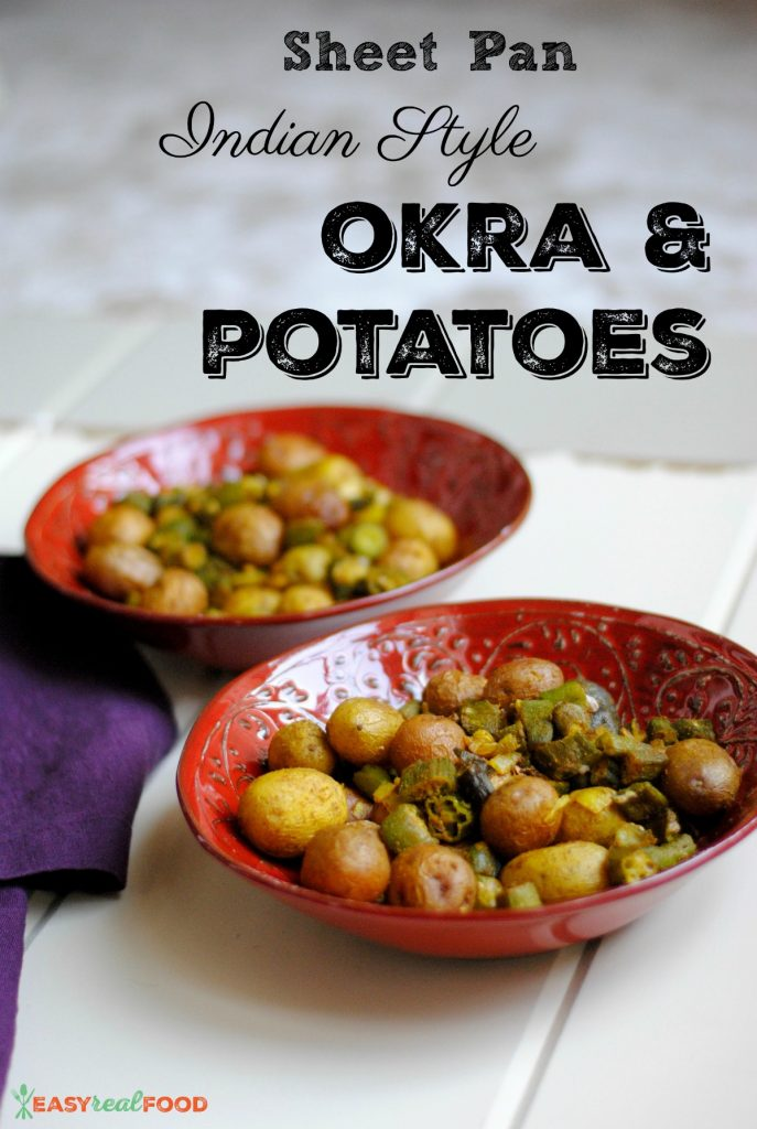 Sheet Pan Oven Fried Okra and Potatoes