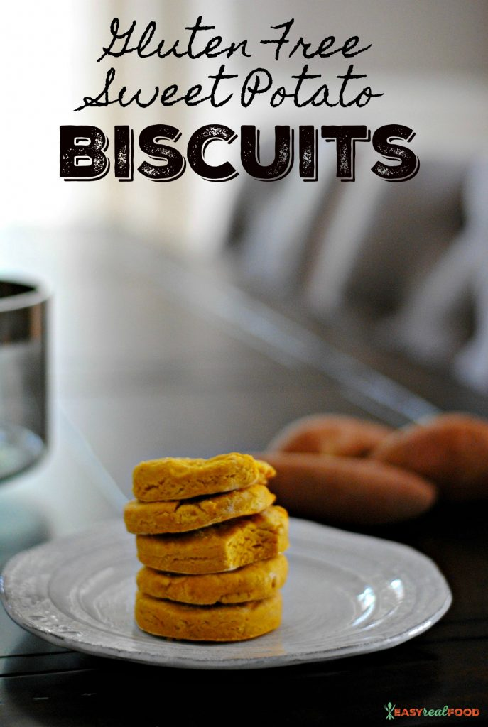A recipe for gluten free sweet potato biscuits