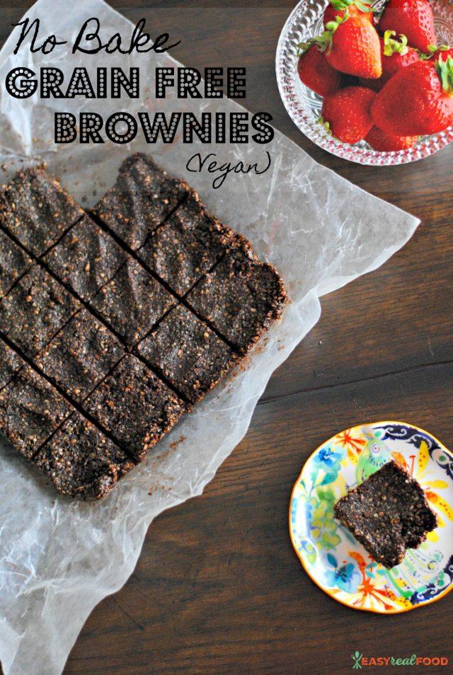no bake vegan grain free brownies