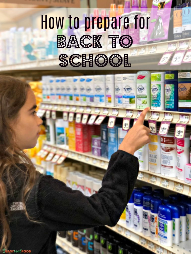 prepare for back to school
