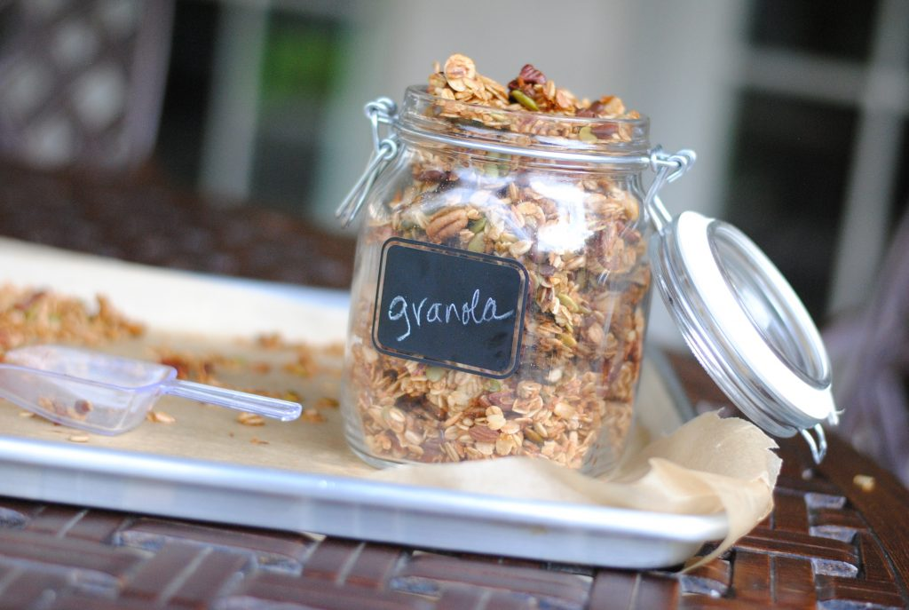 healthy homemade pumpkin granola