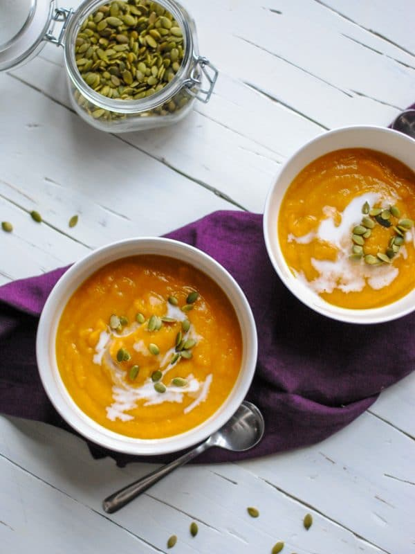 Healthy Curried Butternut Squash Soup