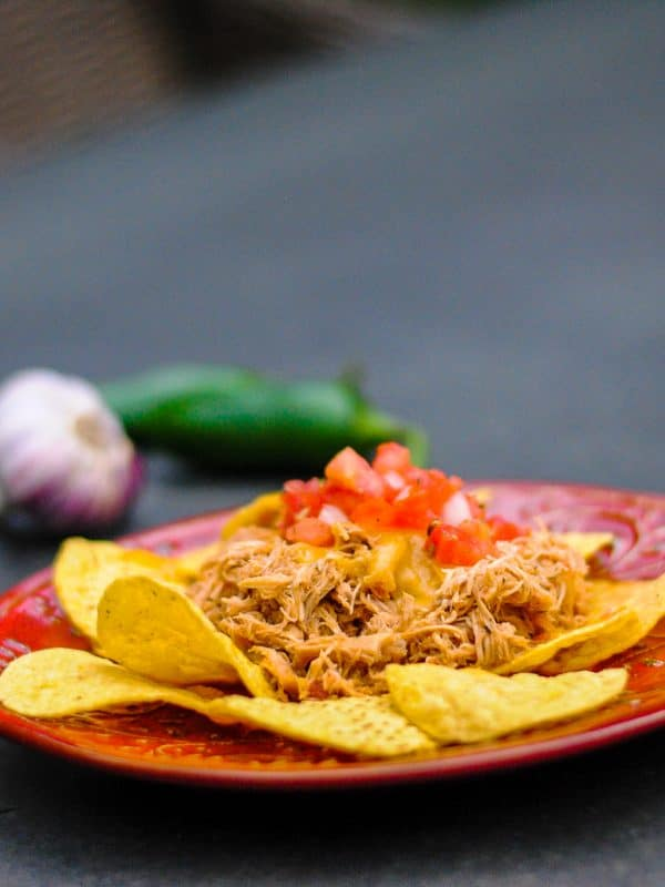 Slow Cooker Healthy Shredded Mexican Chicken