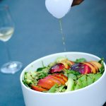 Peach and Avocado Salad with Homemade Dressing