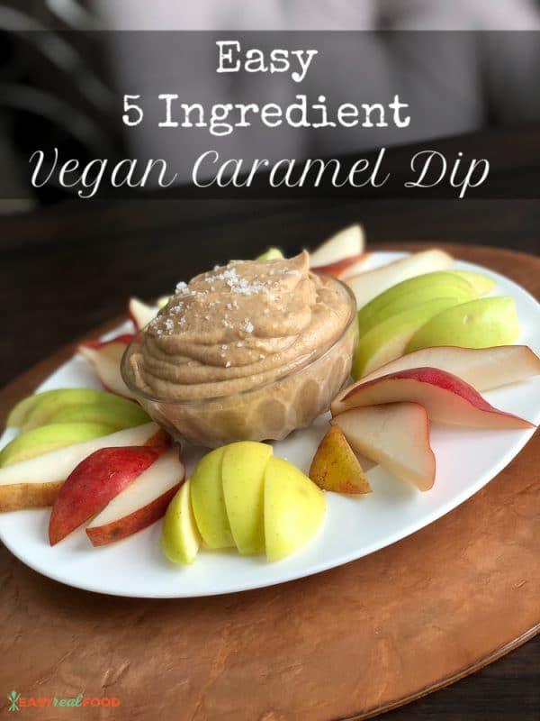 Easy 5 Ingredient Vegan Caramel Dip