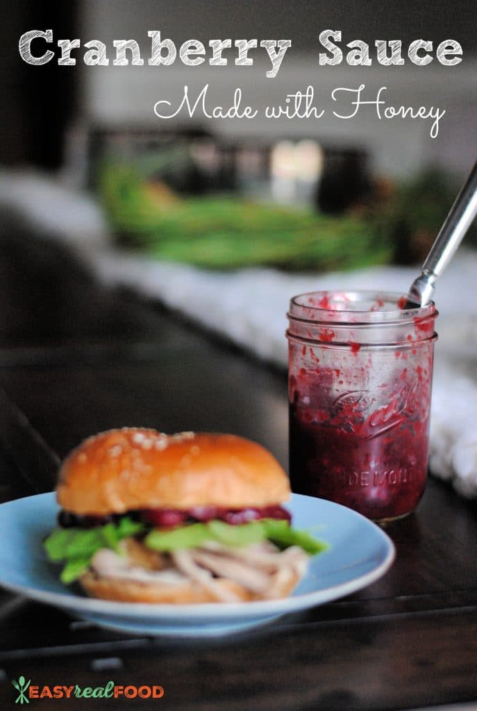 healthy cranberry sauce with honey