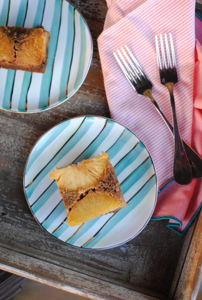 Gluten Free Pineapple Upside Down Cake Easyrealfood.com #healthydessert #glutenfree #simplemills