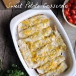 Healthy Chicken Sweet Potato Casserole - #glutenfree