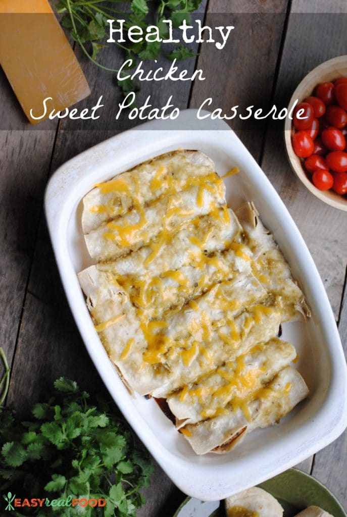 Healthy Chicken Sweet Potato Casserole - #glutenfree