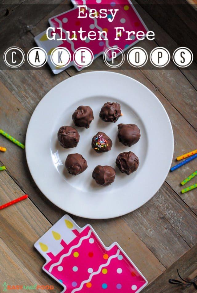 Easy Gluten free cake pops - Easyrealfood.com
