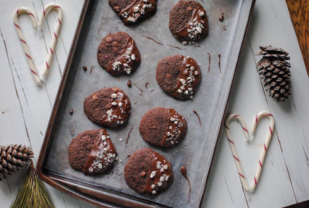 Gluten Free Peppermint Chocolate Cookies - #chocolate #glutenfree
