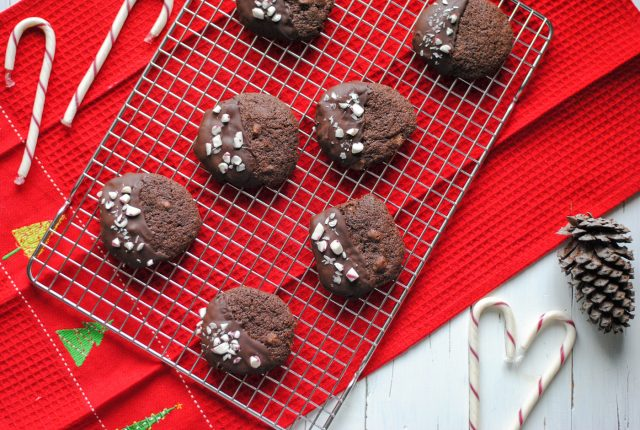 Gluten Free Peppermint Chocolate Cookies - perfect for #Christmas!