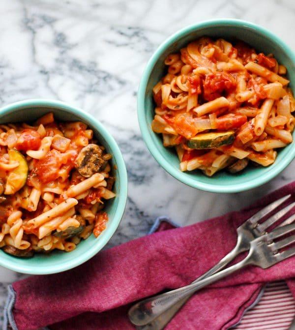 One Pot Gluten Free Pasta - Vegan