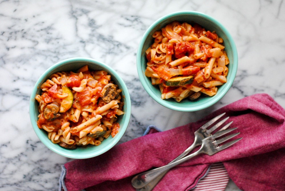 One Pot Gluten Free Pasta - Vegan