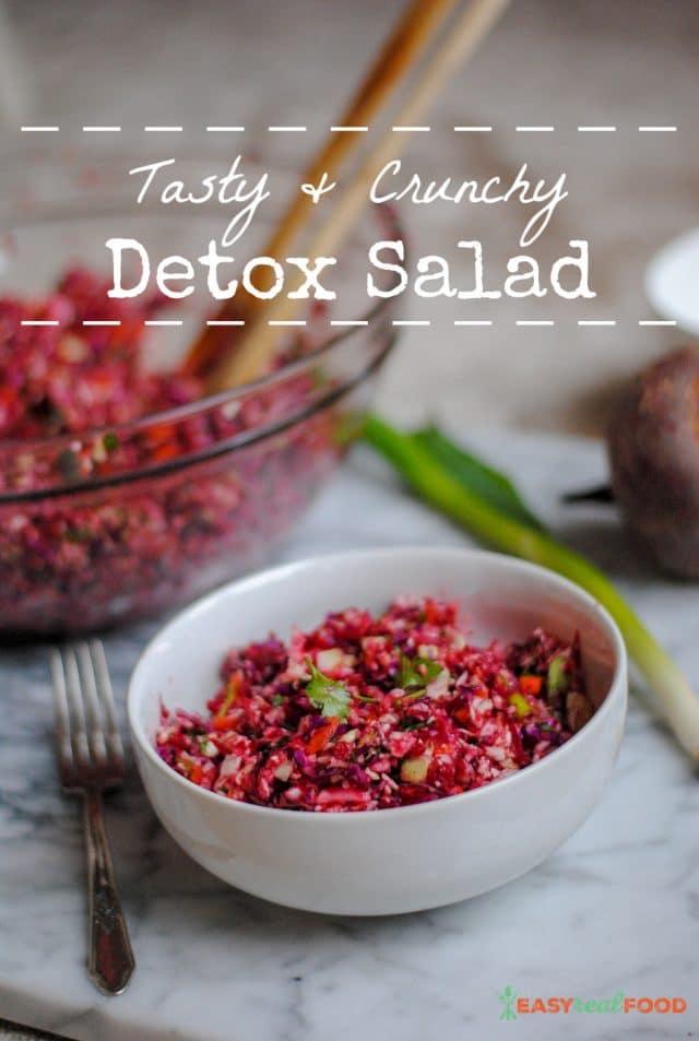 Raw, crunchy detox salad #raw #salad #detox
