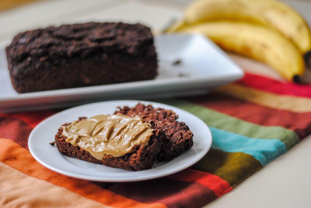 Vegan Chocolate Banana Bread With Black Beans