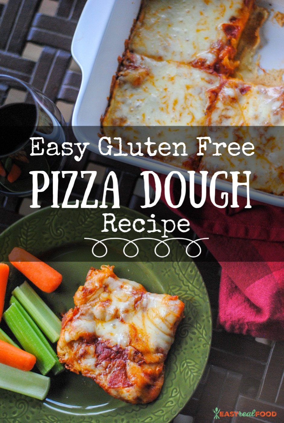 Easy Gluten Free (and yeast-free) Pizza Dough Recipe - #easydinner #glutenfree
