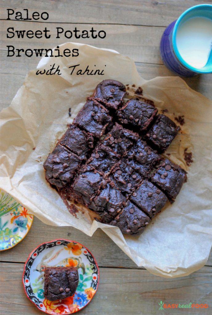 A recipe for paleo Sweet Potato Brownies with Tahini