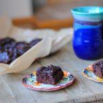 Tahini Brownies with Sweet Potatoes - #glutenfree, #grainfree #paleo #healthytreat