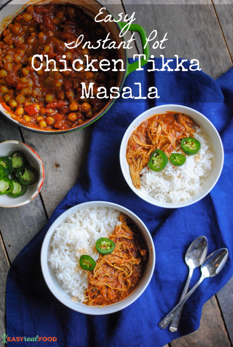 An easy recipe for Chicken Tikka Masala made in the Instant Pot. #dairyfree #paleo #instantpot